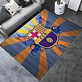 AMON LL AlfombrasColecciones de fútbol Alfombras, Cálido Moderno de Barcelona Impreso Multi Floor Mat,B,100×160cm