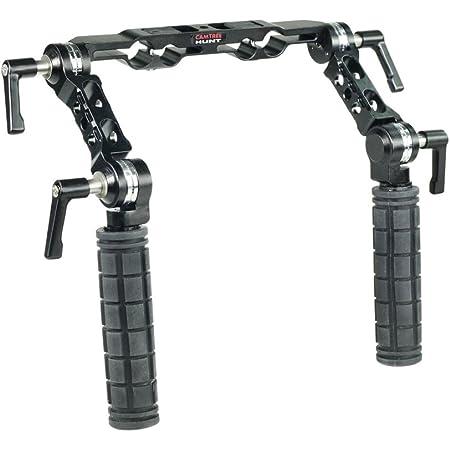 CAMTREE Hunt 19mm/15mm Rosette Handle Set Comfortable Handgrip Support for Rod Rail, Camera Shoulder Rig Kit (CH-1915-RH)