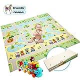 Krabbelmatte Baby Spielmatte Extra große Babyspielmatte faltbare reversible ungiftige Schaum