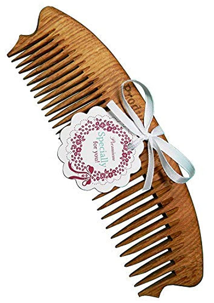 荒野ユーモア恐ろしいWooden comb It is a special comb made from natural oak wood 100% HANDCRAFTED Premium [並行輸入品]