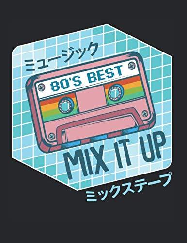 Mixkassette Mixtape Otaku Japanische Fans Vintage: A4+ Softcover 120 beschreibbare karierte Seiten | 22 x 28 cm (8,5x11 Zoll)