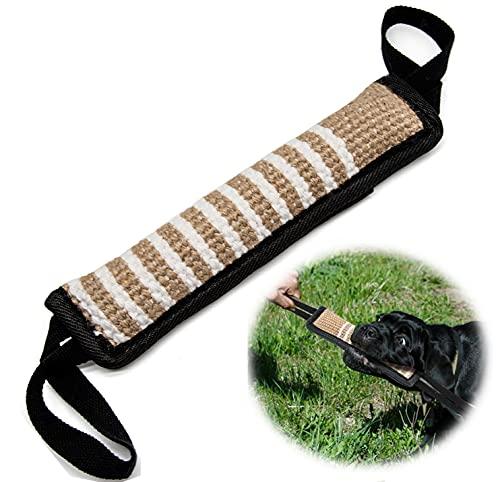 Beisswurst für Hunde,Beißwurst,Jute Beisswurst mit 2 Griff,Zum Hunde Training,Tauziehen und Zerrspiele mit Hund, 30 cm