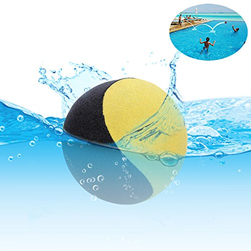 Edealing Water Bouncing Ball für Pool & Meer - Fun Water Sports Spiel für Familie und Freunde - Anti-Cracking Soft und Starke Bounce - 2,17 Zoll (Gelb)