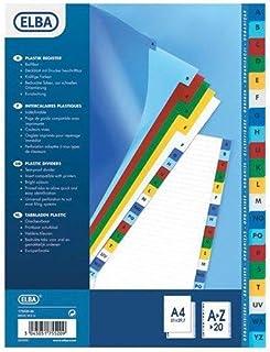 Modling Jeu d'Intercalaires Alphabétique 20 Positions A4 Maxi Colorés