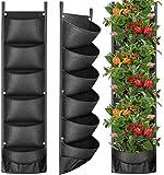 Fengaim Más Profundo y más Grande Jardinera de Pared de jardín Vertical de 6 Bolsillos Bolsas Colgantes para Plantar para Las Plantas de la Cerca del jardín del césped del Patio del Patio