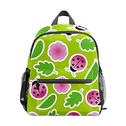 Mini zaino per ragazze con coccinella rosa fiore piccolo zaino borsa per le donne 12 pollici borsa da viaggio borsa scuola per ragazze ragazzi