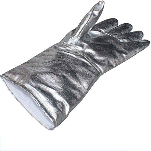 GXDHOME Folie Handschuhe Hohe Temperaturbeständigkeit Feuer Prävention Melting Fünf Finger Folie Strahlenschutzhandschuhe