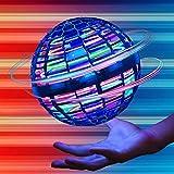YUSOUWEYは、魔法を現実の飛行おもちゃ(科学技術ブルー)、Flynova pro、フライトボールにします ミニ ufo ドローン 子供/大人向けギフトおもちゃ ブーメラン スピナー 球状飛行ジャイロ フライングボール 360°回転 LEDライト 付き自動回避障害機能 青い