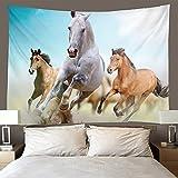 binghongcha Tapiz 3D Three Horses A924 Mandalatapestries Esterilla De Yoga Manta De Toalla De Playa, Sábana De Playa De Picnic, Mantel, Boho, Colgante De Pared Decorativo 220X240Cm