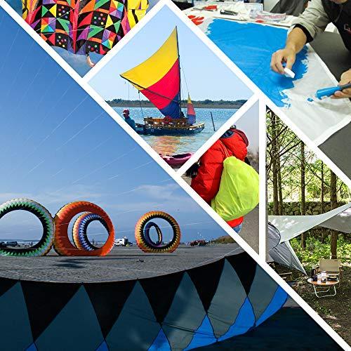 """emma kites Black Ripstop Nylon Fabric 1.4Oz yd² 60""""x36"""