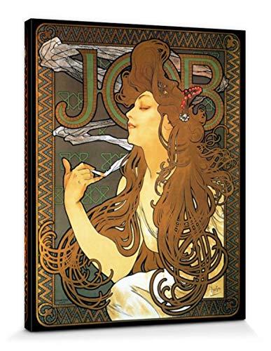 1art1 Alphonse Mucha Poster Reproduction sur Toile, Tendue sur Châssis - Job, 1896 (50 x 40 cm)