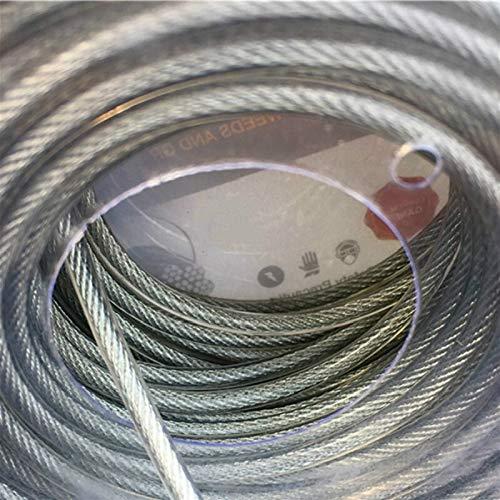 XIOFYA 2,6 mm Cuerda de Alambre de Cable de línea Cortadora de cesped línea Interior con Alambre de Acero desbrozadora la línea de Nylon for el jardín Instrumentos Las Partes
