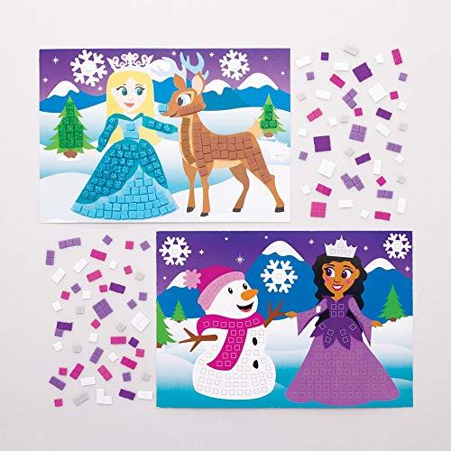 Baker Ross Kit Principessa delle Nevi Immagine Mosaico
