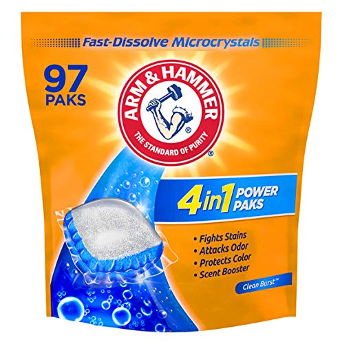 Arm & Hammer 4in1 Laundry Detergent Power Paks, 97 Count (Packaging May...