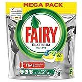 Fairy Platinum 60 Pastiglie Per Lavastoviglie, Detersivo in confezione da 60 Caps, Limone