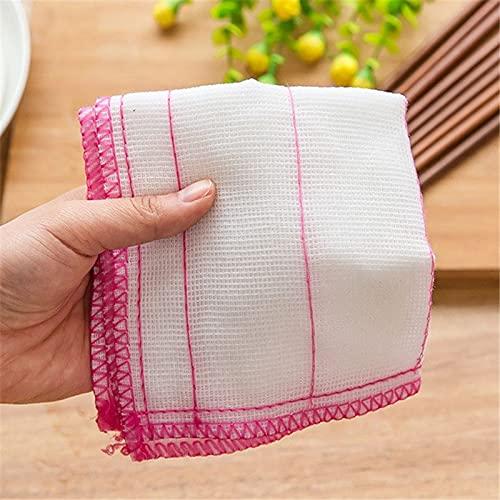 1 PC eficiente anti-grasa Color plato paño fibra paños trapos toalla fibra fibra fibra de bambú hogar cocina vajilla paño de limpieza