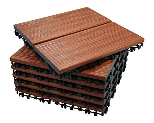 ECO-PAVE 7610342902792 waterslip vloerbedekking kersenrood kleur 30X30 cm 6 stuks