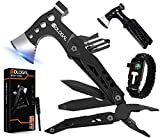 sdlogal Multitool Camping Accessories 15 in 1 Tool Hatchet with Axe Hammer Saw Screwdriver...