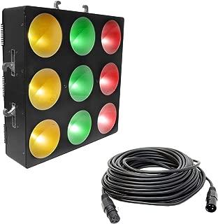 Chauvet Core 3x3 Pixel-Mapping RGB LED Wash Light Fixture w/ 50 foot DMX Cable