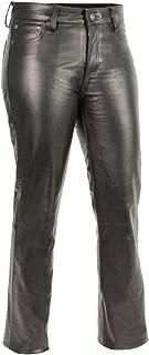 M Boss Apparel Pants BOS26501 Ladies Classic 5 Pocket Leather Pants Black - 12