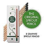 Sprout lápices plantables | Pack de 8 lápices de grafito...