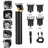 Hair Clippers for Men Beard Trimmers T-Blade Hair Trimmer Barber Hair Cut Grooming Kit Machine Professional Rechargeable Cordless Quiet