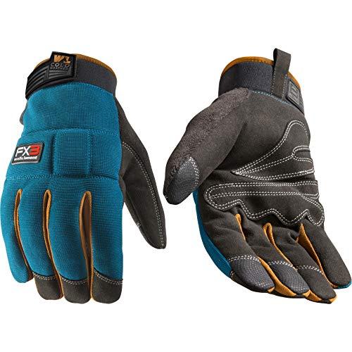 Men's FX3 Extreme Dexterity Blue Winter Work Gloves, Large (Wells Lamont 7794)