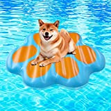Paw Dog Pool Float - Large Inflatable Raft Summer Pool Swimming Toys Water Games for Pets 49' X 46' X 3.5'