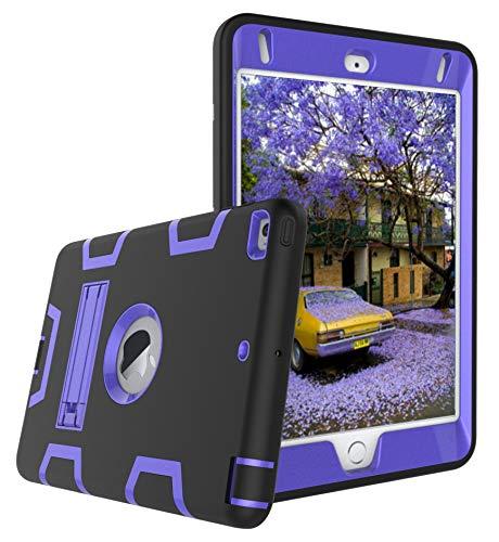 HOTSALEUK iPad Mini 4/iPad Mini 5(2019) Case, Full Body Rugged Shock Three Layer Drop Protection Silicone Bumper Case with Stand for iPad Mini 4/iPad Mini 5(2019),A11