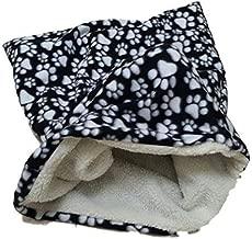 Weenie Warmers Black Paw Sherpa Lined Dog Cat Bed Sleeping Bag