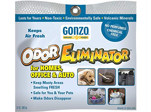 Gonzo Odor Eliminating Rocks - 32 oz - Pet Cigarette Smoke Paint Garbage Odor Eliminator For Car Home Gym Bag Basement Locker Room
