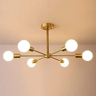 LINGKAI 北欧 ペンダントライト6灯 天井照明 照明器具 引掛け式 リビング キッチン 居間 食卓 LED対応 6畳 8畳 E26