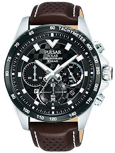 【セット商品】[パルサー] セイコー SEIKO パルサー PULSAR ソーラークロノグラフ腕時計 PZ5109X1 &マイクロファイバークロス 13×13cm付き[並行輸入品]
