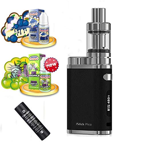 E-Zigarette SC produced by Eleaf Pico iStick 75W Starterset 2600mAh | TC (Temperaturregelung) mit Keepower Akku | mit American Stars Liquids - 00mg Rauchen ohne Nikotin