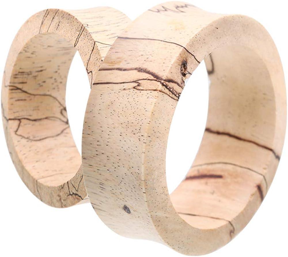 Covet Jewelry Supersize Tamarind Wood Double Flared Eyelet Ear Gauge Plug