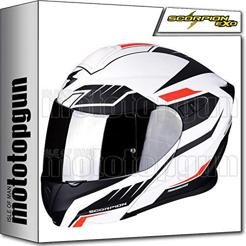 Scorpion Motorradhelm Modularhelm Exo 920 Shuttle matt weiß schwarz weiß matt schwarz XL aufklappbar
