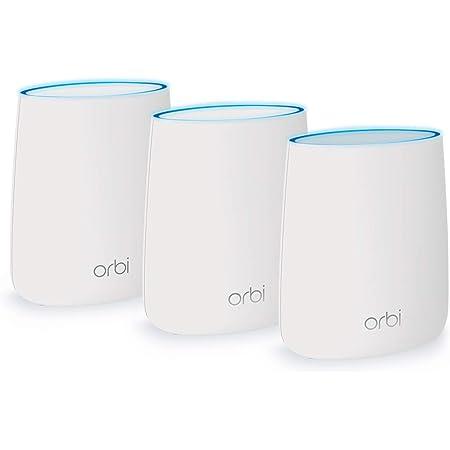 Netgear Orbi RBK23 - Sistema Mesh Wi-Fi TriBanda AC2200, cobertura de hasta 375 m², kit de 3, con 1 router y 2 satélites