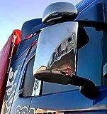 Juego de 4 cubiertas de ventana de acero inoxidable para camiones Scania R/P/G/L