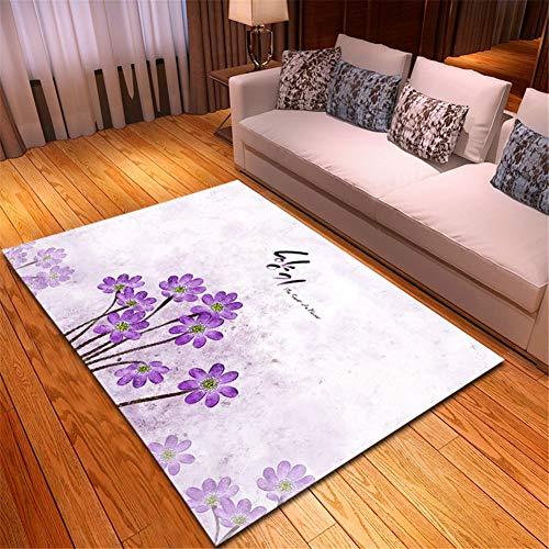 Alfombra Home Habitación Infantil Lavable Suave Antideslizante baratas suelo Rugs Muchas flores...