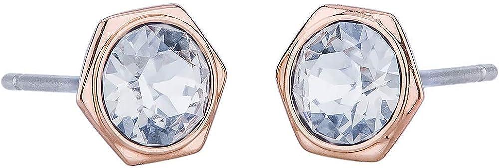 Swarovski Same day shipping Rose Gold Tone 5371199 Earrings Stud Regular dealer Hexagonal