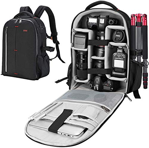ESDDI Camera Bag Backpack Professional for DSLR/SLR Mirrorless Camera Waterproof, Camera Case...