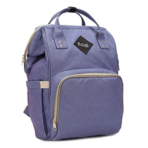VJGOAL Mama tas luiertas met grote capaciteit baby tas reizen rugzak Desiger verpleging tas, lila (groen) - LK111-135