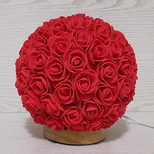 FAFY Lampe De Table Rose Envoyer Cadeau De Décoration De Petite Amie Anniversaire Décoration De Nuit Cadeau Saint-Valentin,Red