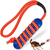 Tough Dog Toys for Aggressive Chewers Large Medium Breed, RANTOJOY Puppy Teething Chew Toys for Puppies Small Dogs, Rubber Dog Rope Toys for Dogs Extreme Chewers Interactive Exercise Fun Tug Dog Toys