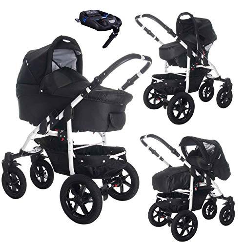 Bebebi Sidney | ISOFIX Basis & Autositz | 4 in 1 Kombi Kinderwagen | Luftreifen | Farbe: Perth