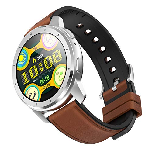 LTLJX Smart Watch, Fitness Activity Tracker Touch Screen Bluetooth Smartwatch, IP68 Waterproof Sports Watch with Heart Rate Pedometer Step Counter Sleep Monitor for Men Women Android iOS,Brown