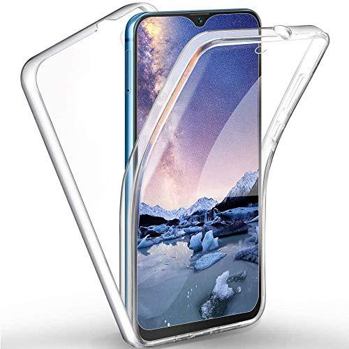 Yutwo für Samsung Galaxy A90(5G) Hülle 360 Grad Handyhülle, Silikon Crystal Full Schutz Cover [ 2 in 1 Separat Hart PC Zurück + Weich TPU Vorderseite ] Vorne & Hinten Schutzhülle - Transparent