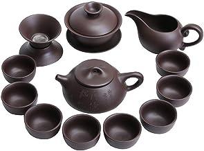 FACAIA Zestaw do herbaty czajniczek opakowanie pudełek upominkowych (kolor: 13 kamiennych gałek dzbanek pokrywka zestaw mi...