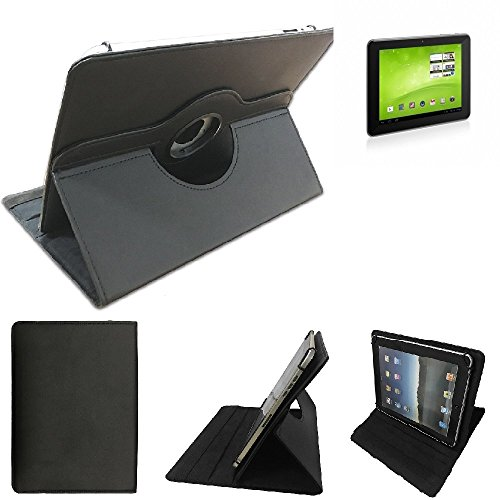 K-S-Trade Kompatibel Mit TrekStor SurfTab Ventos 8.0 Schutz Hülle 360° Tablet Case Schutzhülle Flip Cover Kompatibel Mit TrekStor SurfTab Ventos 8.0, Schwarz. Tablet Hülle Drehbar Standfunktion