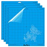 Strong Grip Cutting Mat for Silhouette Cameo 4 Packs 12' x 12' - Adhesive Cutting Mat Replacement Set Matts Vinyl Craft
